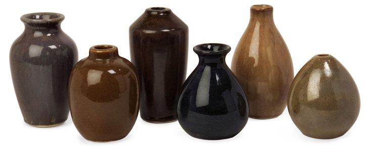Mini Vases, Asst. of 6