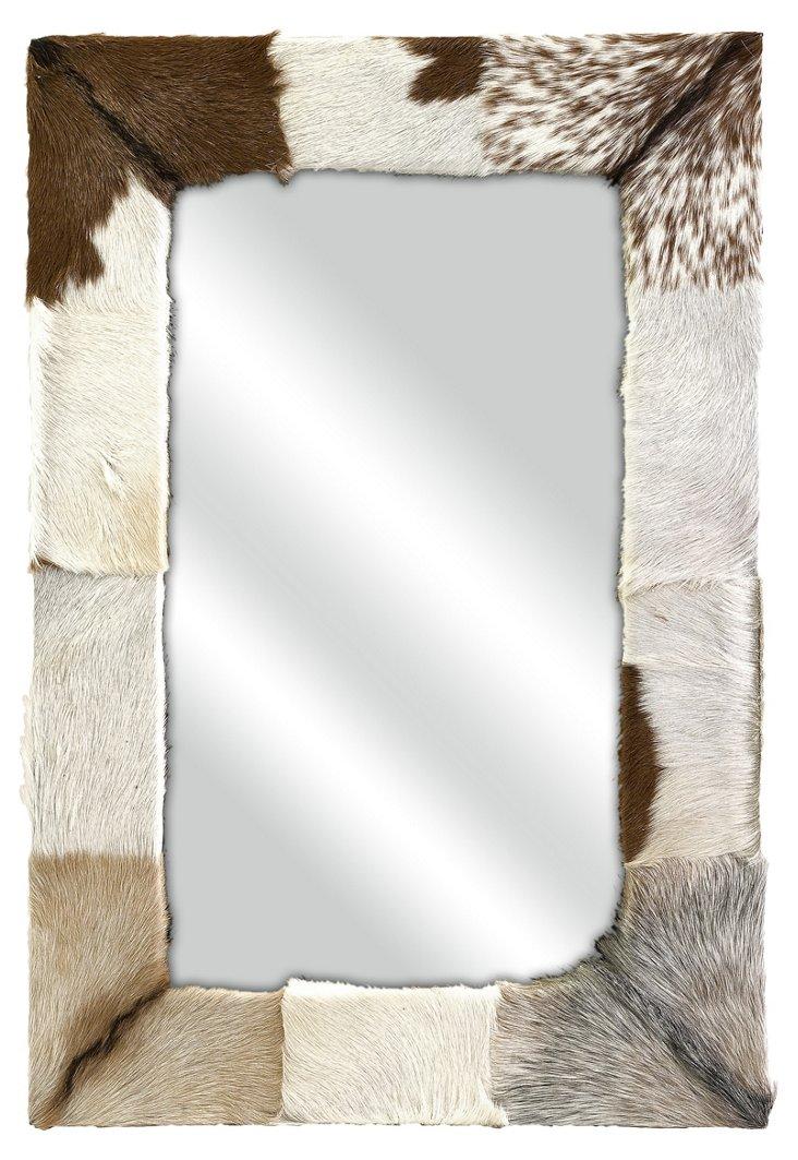 Pacino Animal Hide Wall Mirror