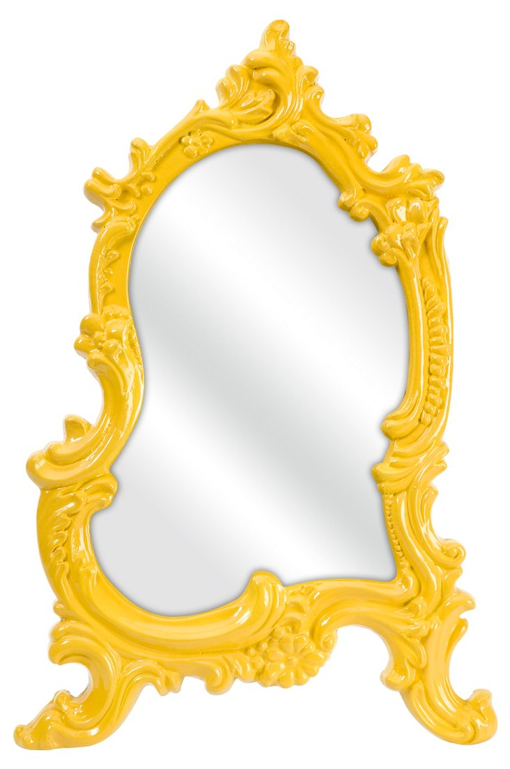 Ivana Vanity Mirror, Yellow