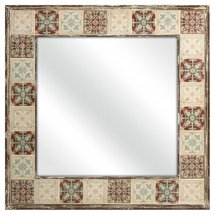 Mujeres Ceramic Tile Mirror