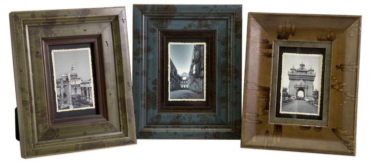 S/3 Madelyn Wood Frames, 4x6