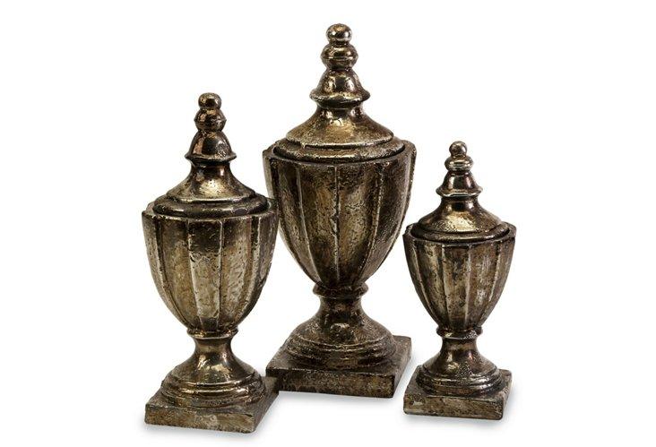 S/3 Neville Lidded Vases