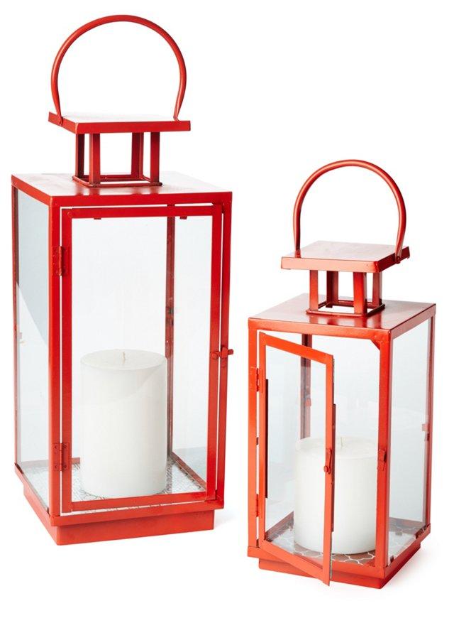 Orange Essentials Lanterns, Asst. of 2