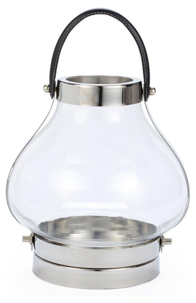 "10"" Glass Jar Lantern"