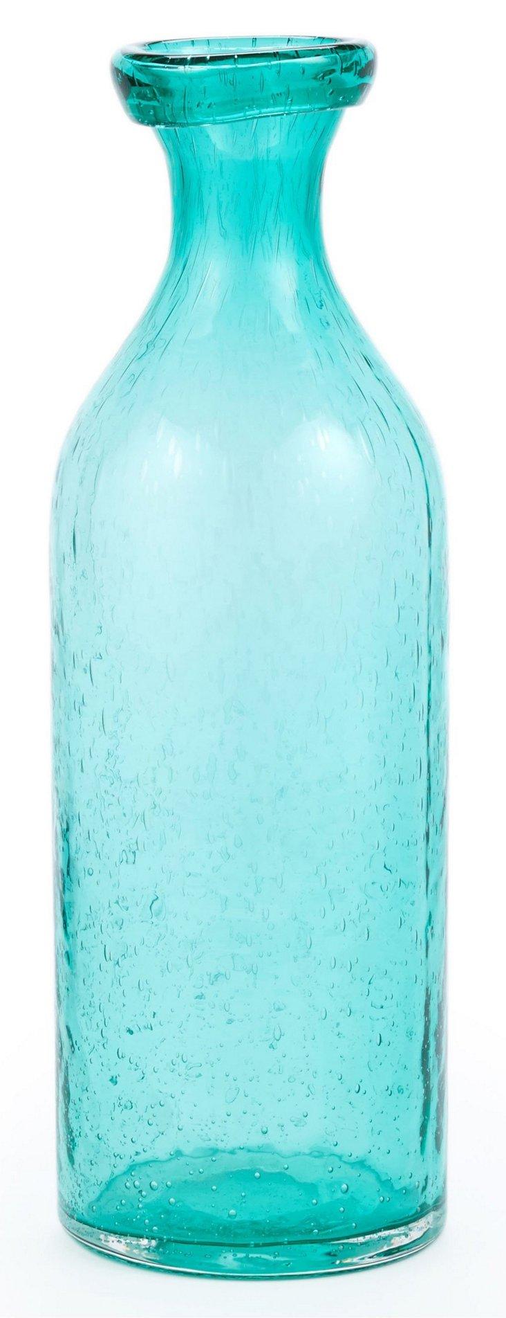 "12"" Bubble Bottle, Aqua"