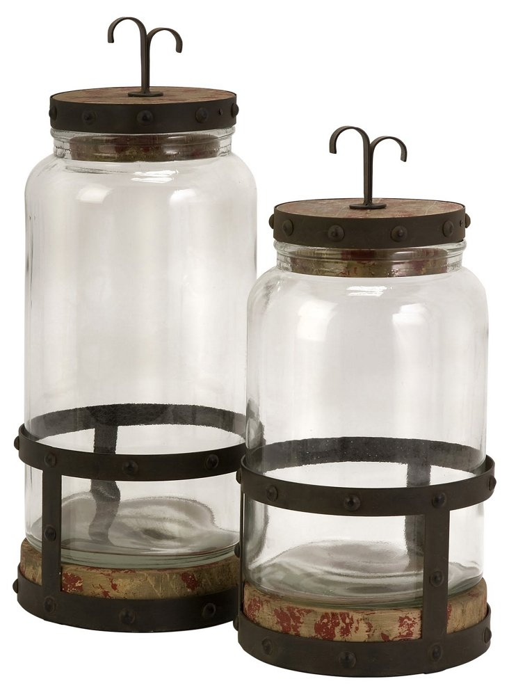 S/2 Sloan Lidded Canisters