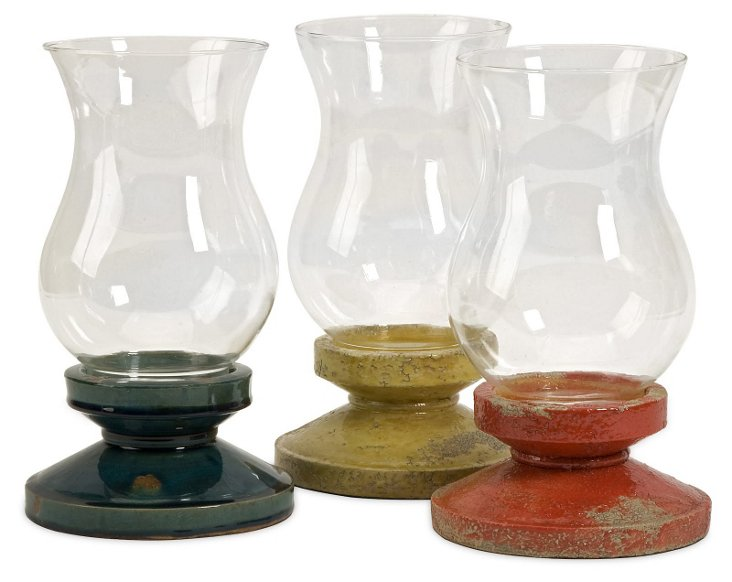 Asst. of 3 Loxias Candleholders, Multi