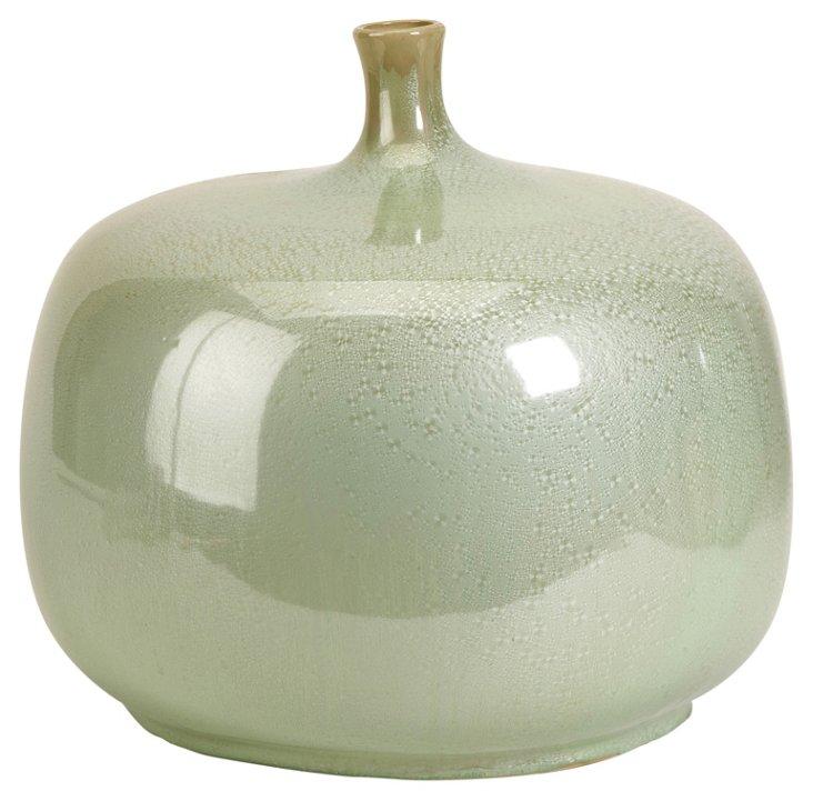 """14"""" Massey Ceramic Vase, Mint"""