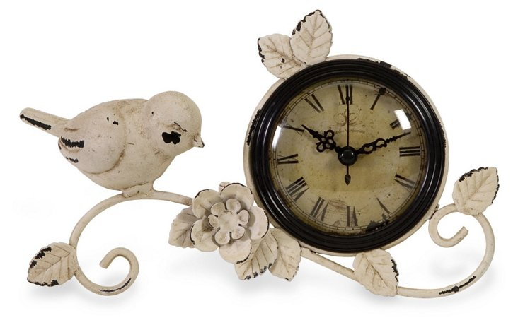 Rustic Chickadee Clock