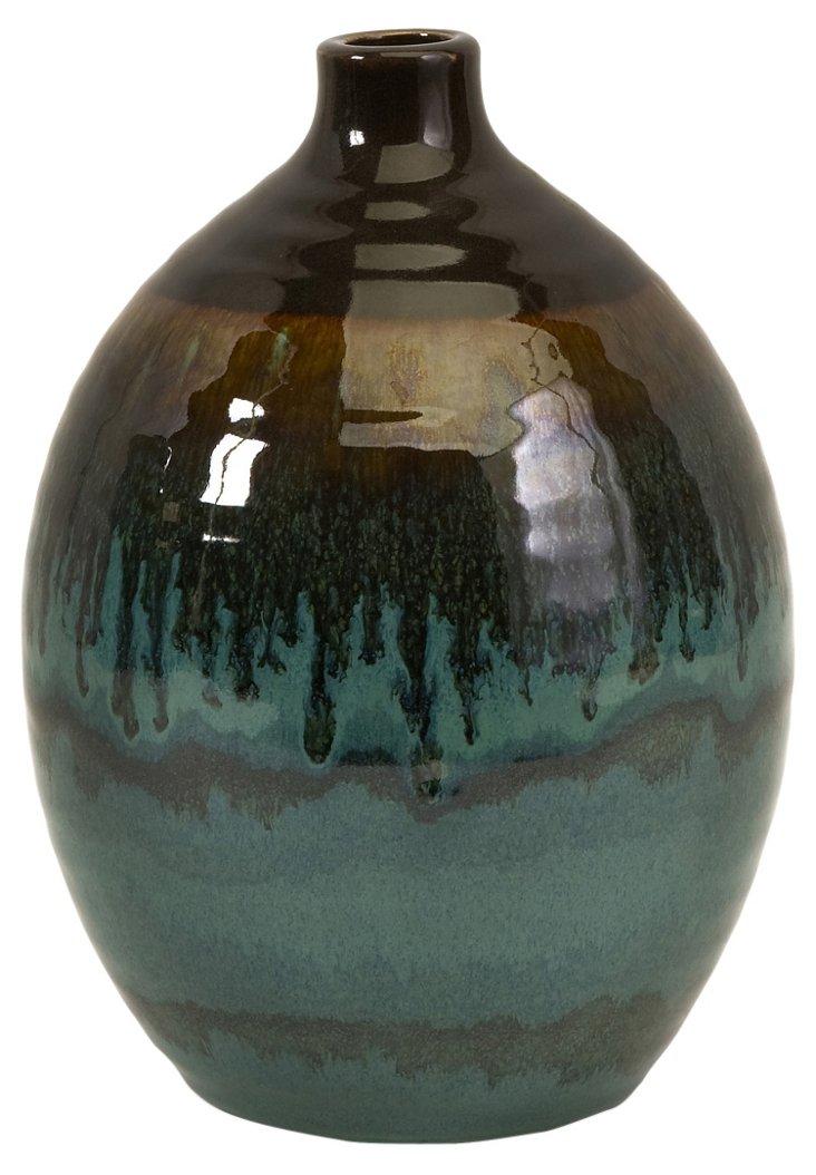 """9"""" Glazed Ombré Vase"""