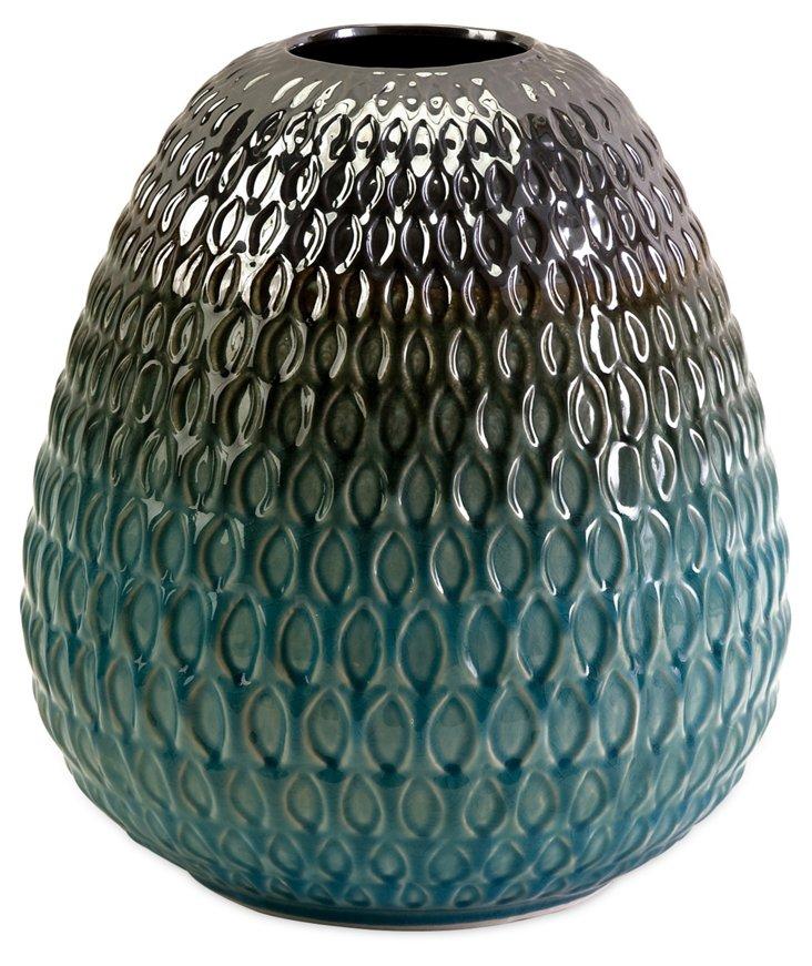 """12"""" Conifer Ombré Vase"""