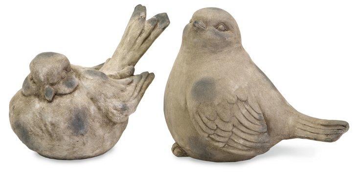 Asst. of 2 Oversize Bird Statuaries