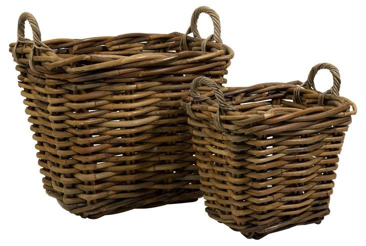 S/2 Assorted Rattan Baskets