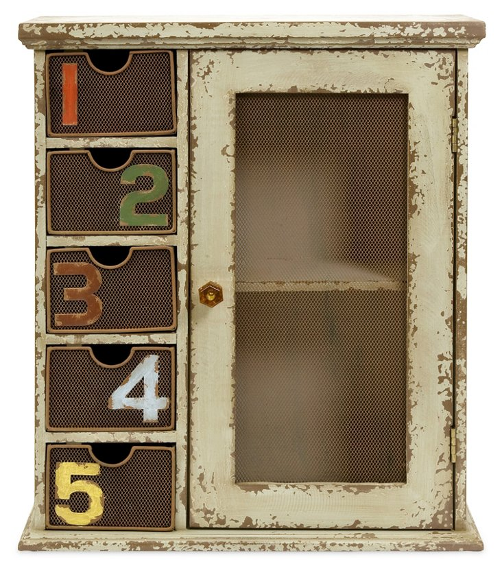 "19"" Numbered Wall Cabinet"