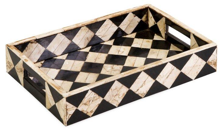 Lanta Bone Inlay Tray, 8x12