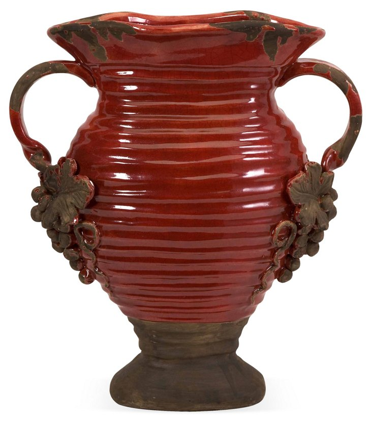 "16"" Chateau Vase, Red"