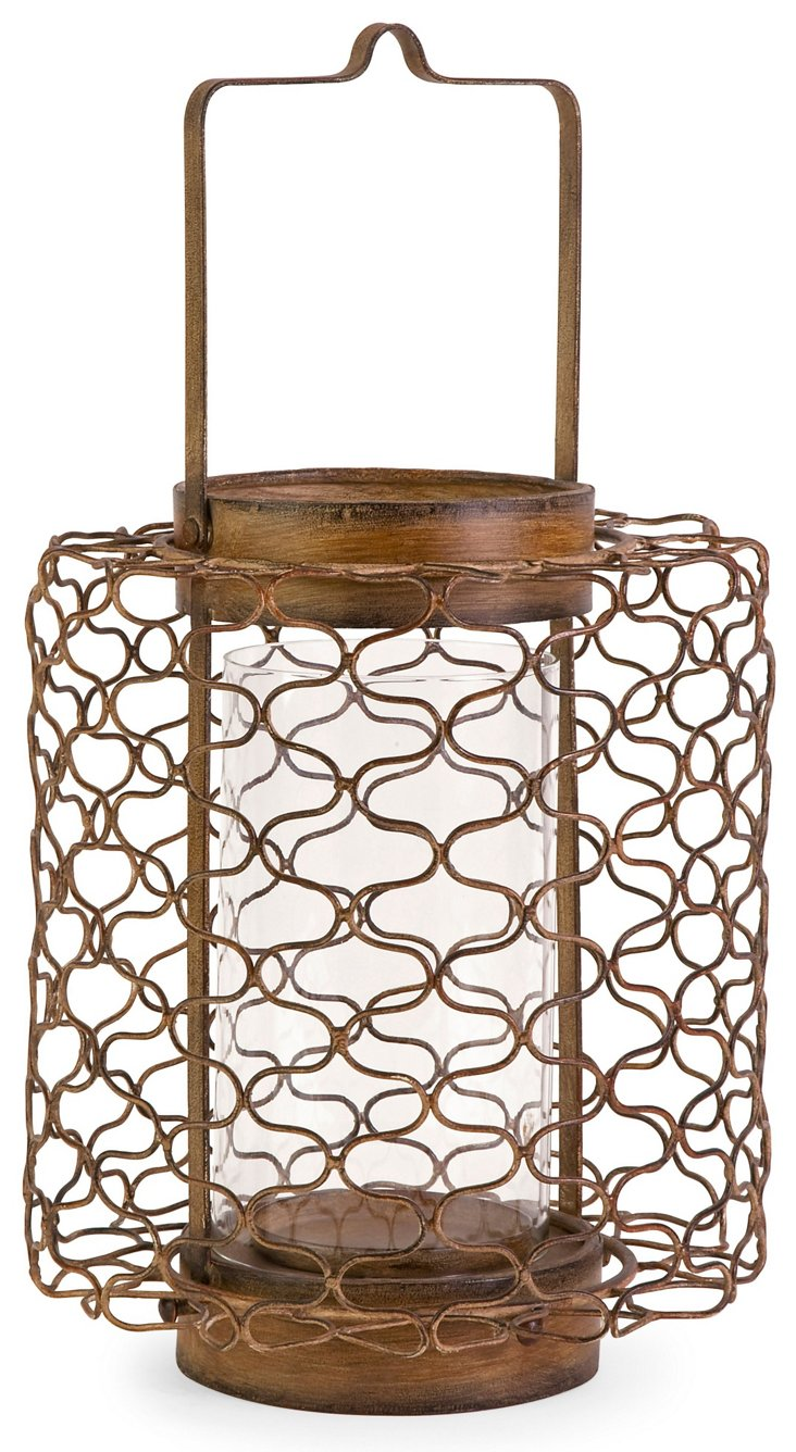 """18"""" Escate Wire Candleholder"""