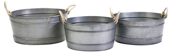 Asst. of 3 Bayou Galvanized Tubs