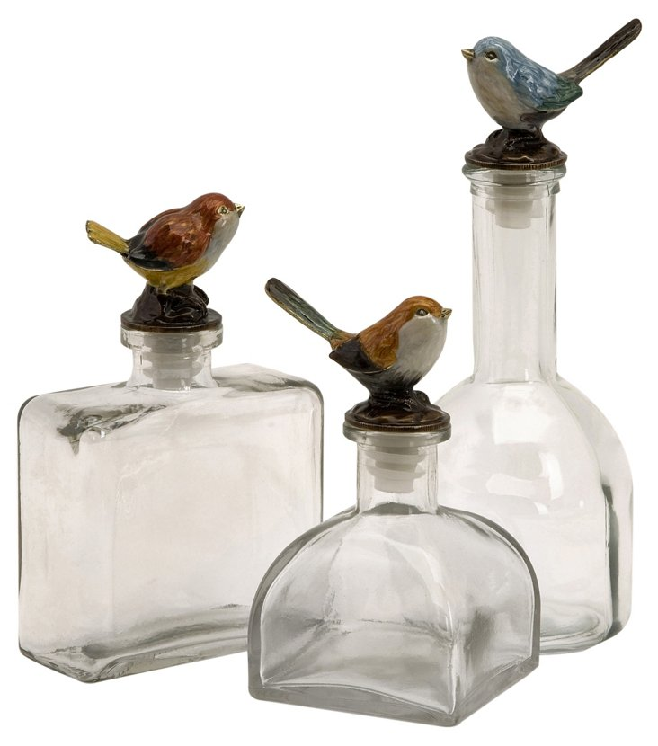 Asst. of 3 Song Bird Bottles