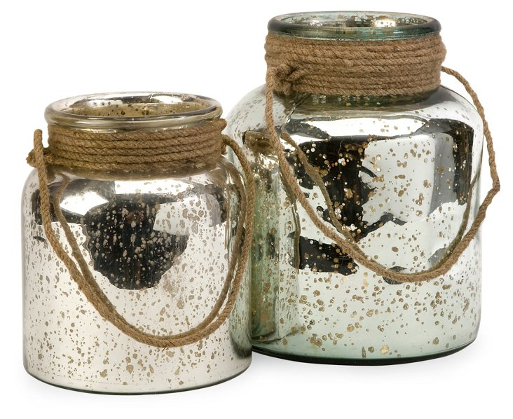 Asst. of 2 Bretton Jars w/ Jute Handle