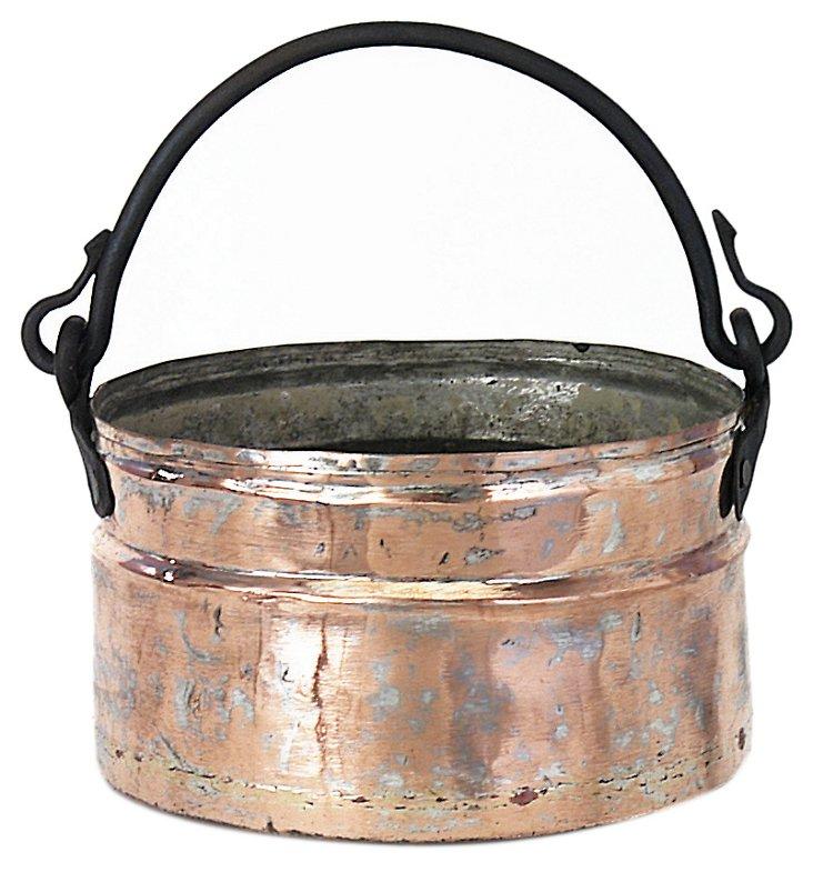 "10"" Kayseri Copper & Iron Bucket, Copper"