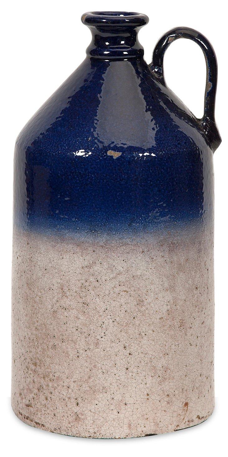 "14"" Jug Vase, Blue"