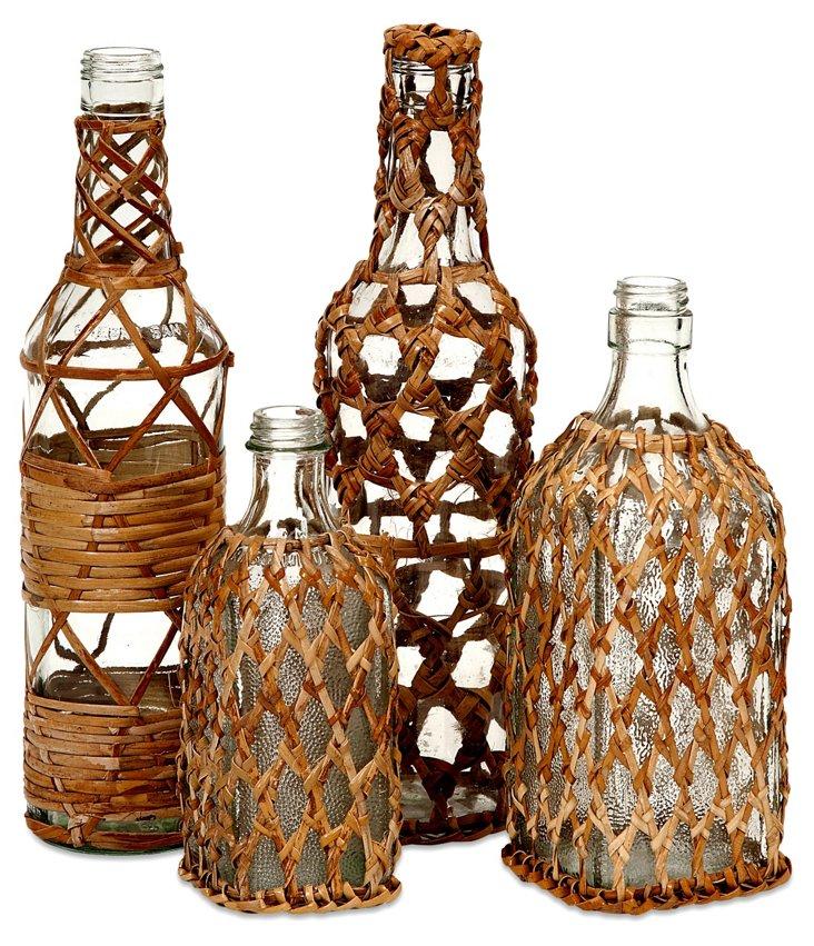 Asst. of 4 Manitoba Glass Bottles