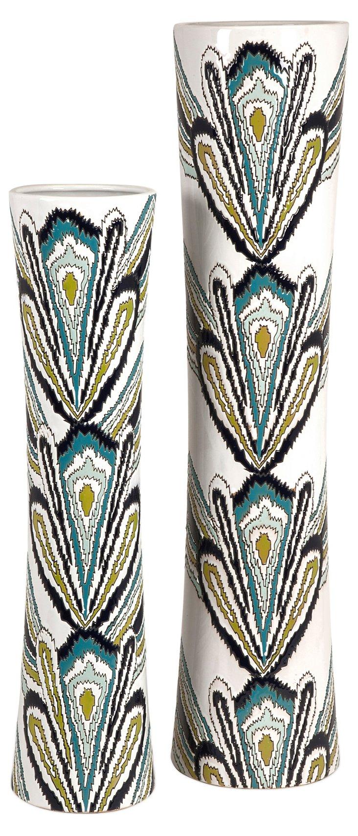 Asst. of 2 Lamia Tapered Vases, Multi