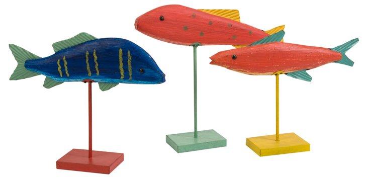 Asst. of 3 Fish Sculptures