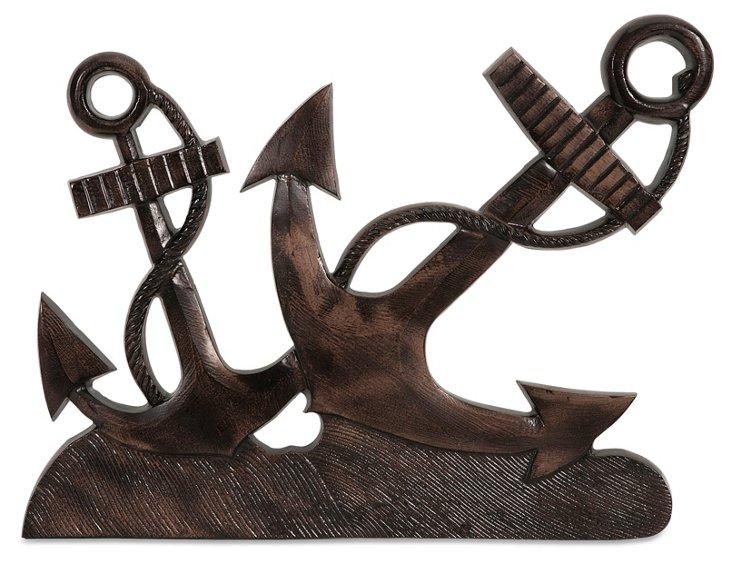 "19"" Anchors Aweigh Wall Decor, Bronze"