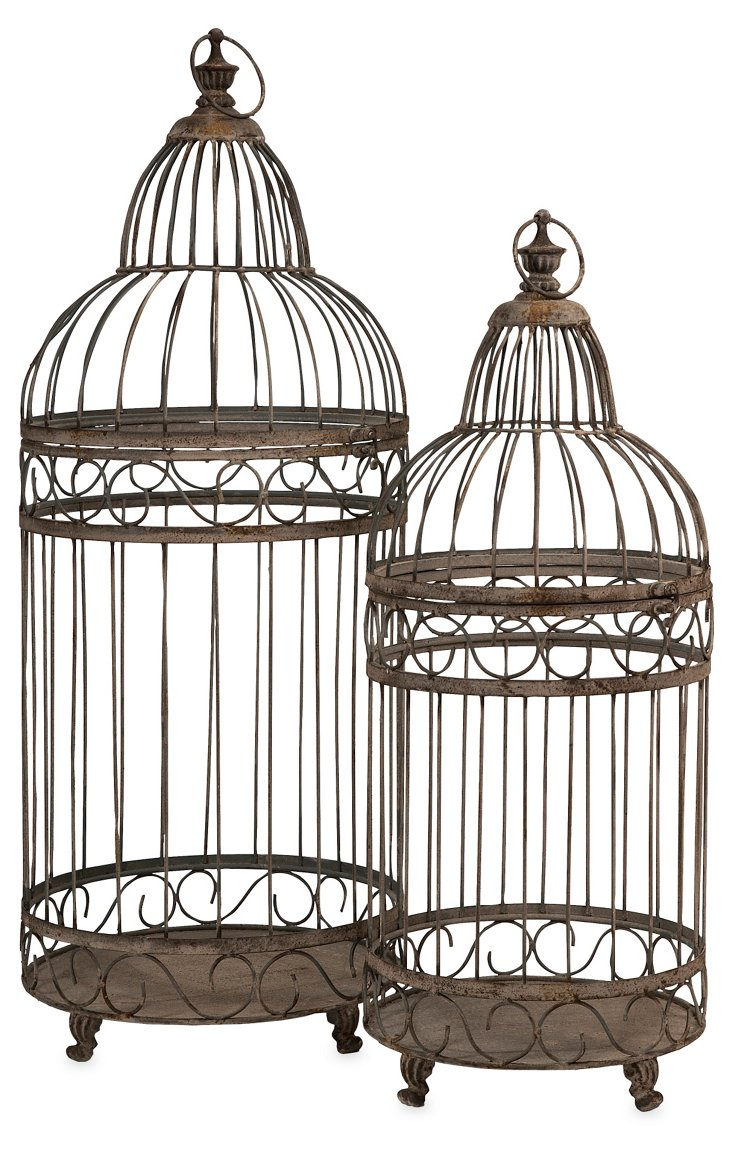 Asst. of 2 Verona Birdcages, Brown