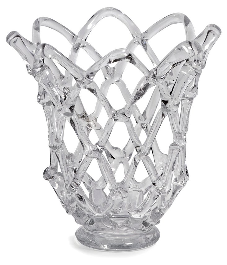 "12"" Glass Web Vase"