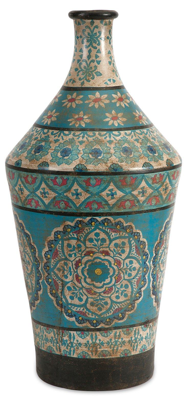 """24"""" Kabir Hand-Painted Vase"""
