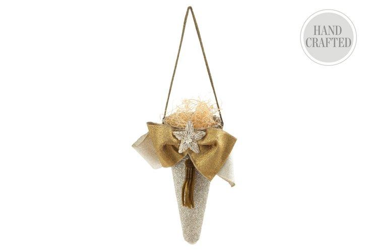 Large Glitter Cone Ornament