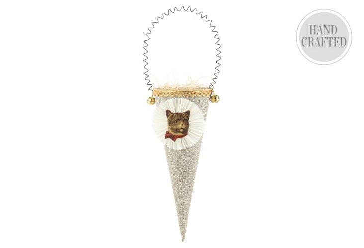 Large Glitter Cone, Cat