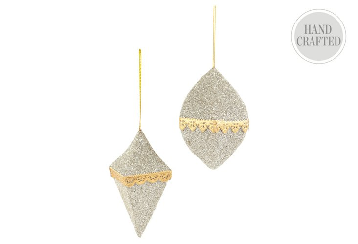 Diamond & 6-Sided Ornaments, S/2