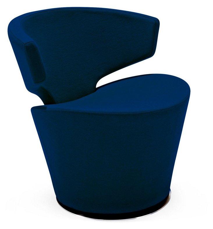 Dijon Wool Accent Chair, Blue