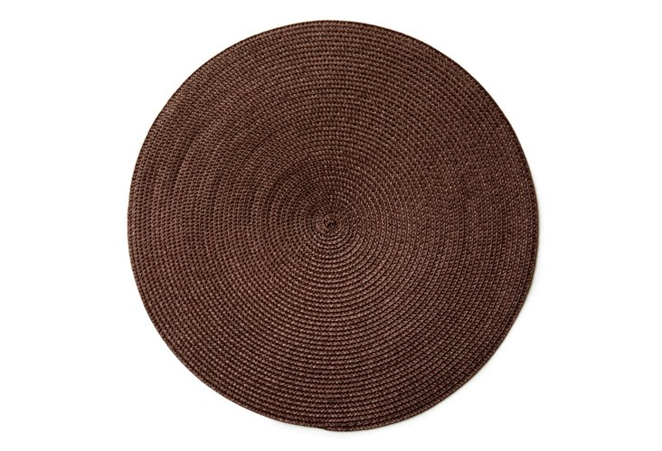 S/4 Woven Place Mats, Chocolate
