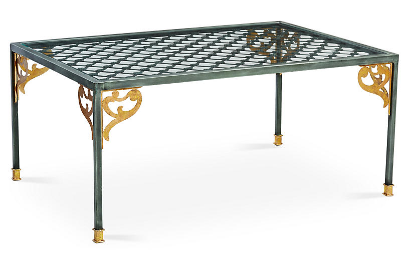 Shiloh Coffee Table, Gold