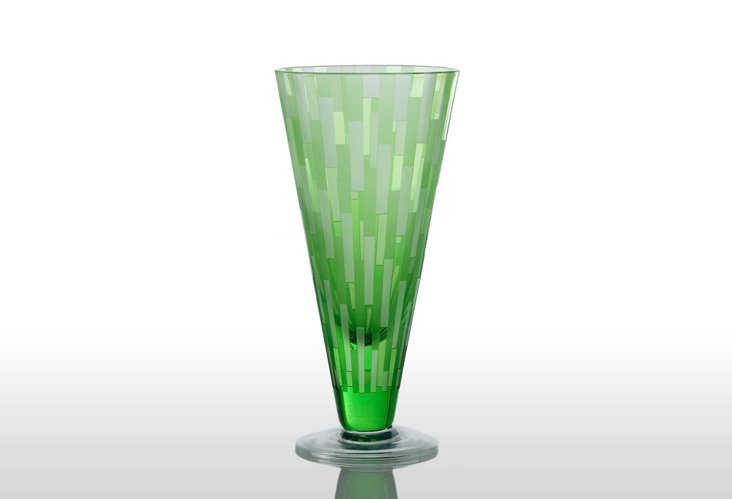 S/6 Urban Beverage Glasses, Green