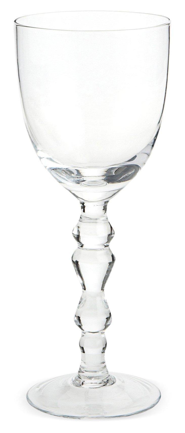 S/6 Vintage Style Goblets