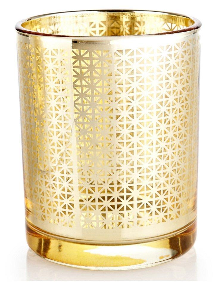 S/3 Votive Candleholders, Gold