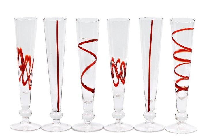 Asst. of 6 Crazy Flutes, Red