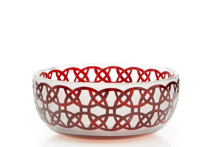 S/4 Majestic Bowls, Red