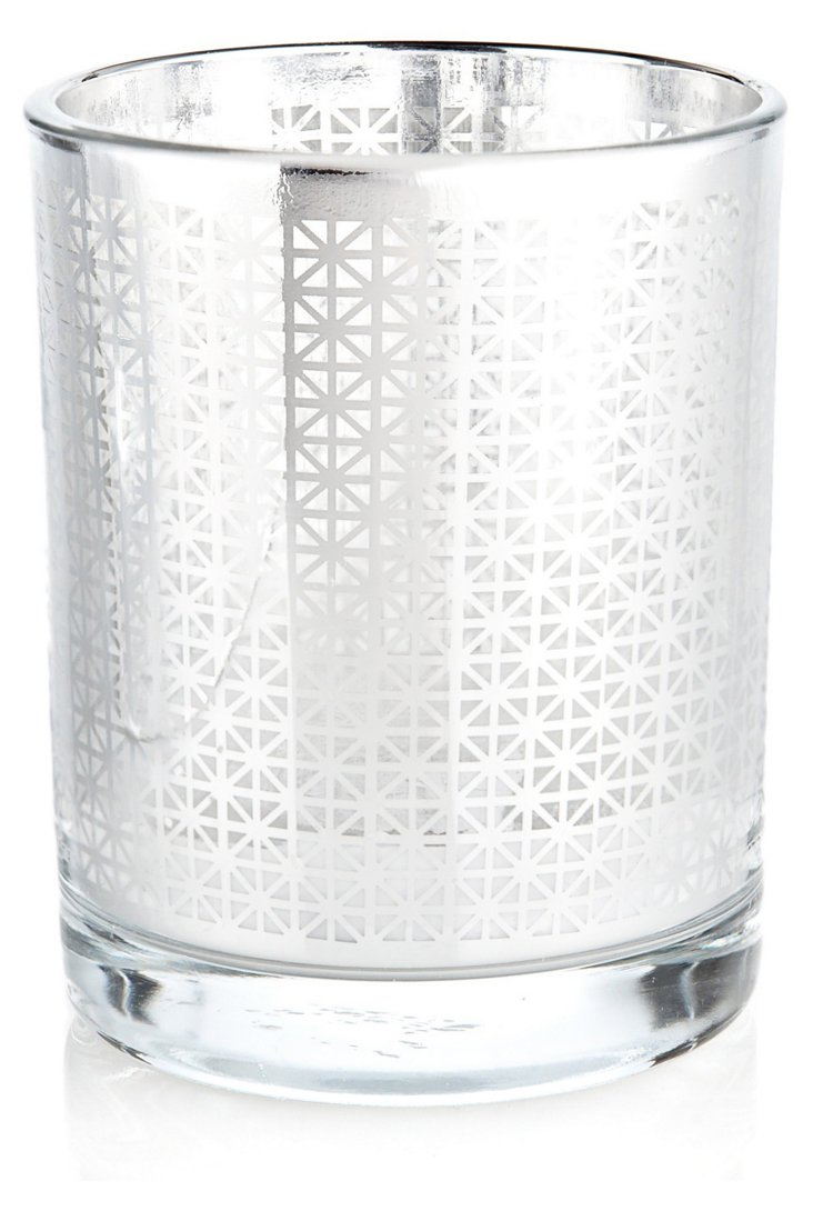 S/3 Arabesque Votives, Silver