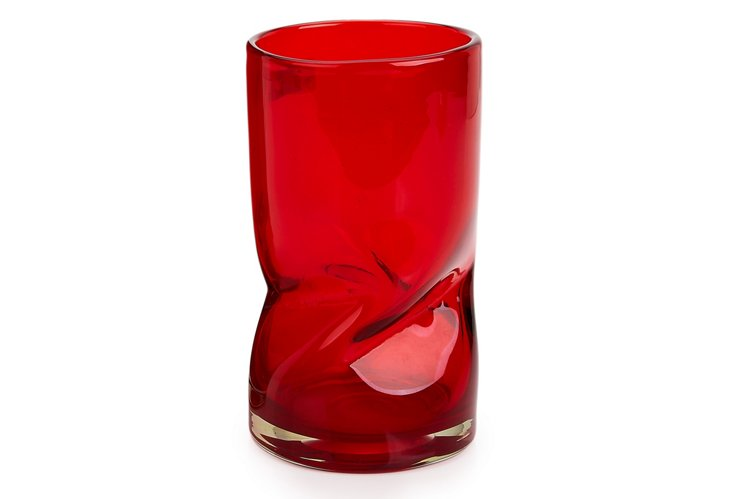Small Inferno Vase, Red