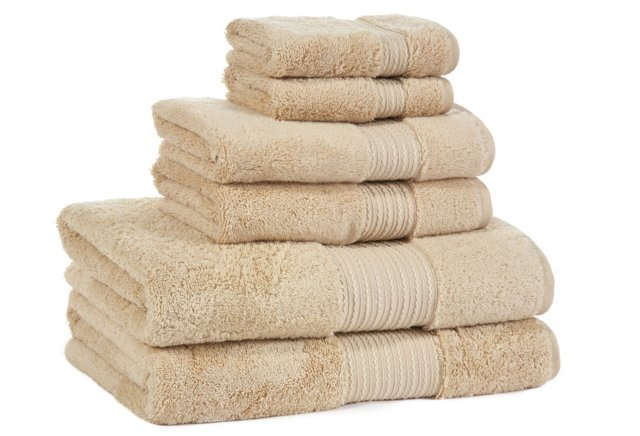 6-Pc KassaSoft Towel Set, Bisque