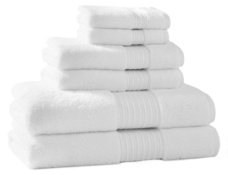 6-Pc KassaSoft Towel Set, White