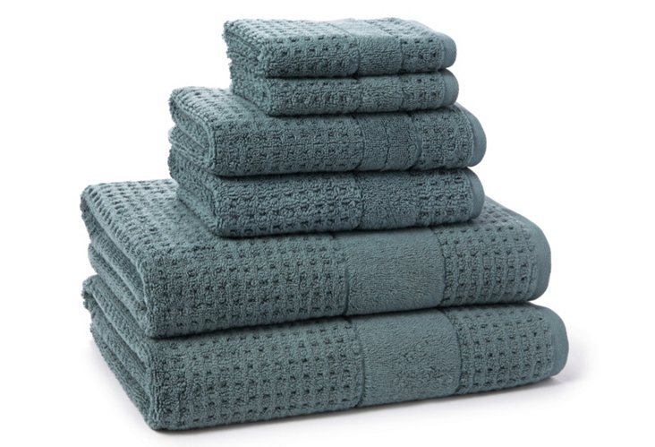 6-Pc Hammam Collection Towel Set, Blue