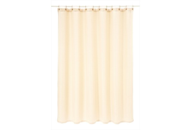 Mar-A-Lago Waffle Shower Curtain, Taupe